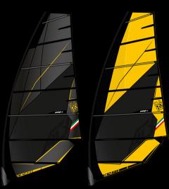 Point 7 ACX Windsurf sail black and yellow | Robin Hood Watersports