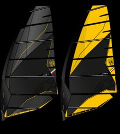 Point 7 acz windsurf sail yellow and black | Robin Hood Watersports