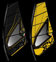 Point 7 spy windsurf sail yellow and black | Robin Hood Watersports