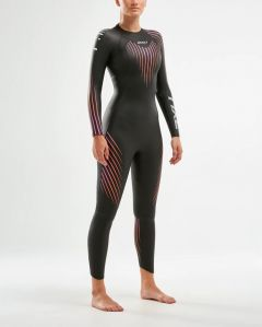 2XU P:1 Propel Womens Swimming Wetsuit Black/Sunset Ombre | Robin Hood Watersports