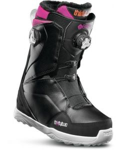 32 Lashed Double Boa Womens Boots 2020 Black/Pink