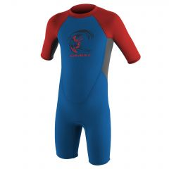 O'Neill Toddler Reactor-2 2mm Back Zip S/S Spring Boys Ocean/Graph/Red