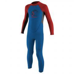 O'Neill Toddler Reactor-2 2mm Back Zip Full Wetsuit Boys Ocean/Graph/Red