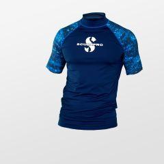 Scubapro Rashguard UPF50 Mens Short Sleeve Aegean