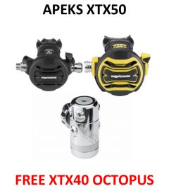 Apeks XTX50 with Free XTX40 Octopus