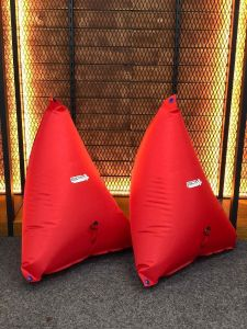 """BPM Whitewater Traditional Canoe Air Bags 32"""" (Pair) Red 