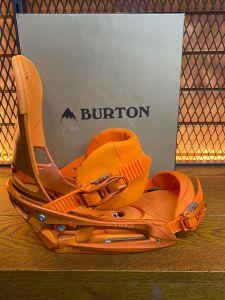 Burton Cartel EST Bindings Orange Medium (UK 6-10) | PREOWNED