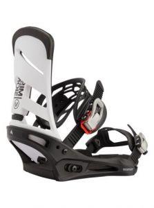 Burton Men's Mission Re:Flex Snowboard Binding 2021 White/Black   Robin Hood Watersports