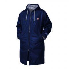 Zone3 Polar Fleece Parka Robe Jacket Navy Orange Front | Robin Hood Watersports