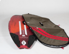 MFC SUP Single Board Bag laid next to a board