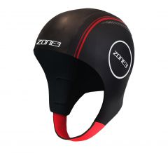 Zone3 Neoprene Swim Cap Black/Red | Robin Hood Watersports