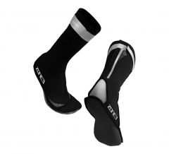 Zone3 Neoprene Swim Socks Black/Silver | Robin Hood Watersports
