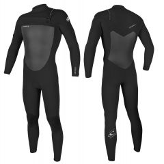 O'Neill Men's Epic 3/2 Chest Zip Full Wetsuit Black | Robin Hood Watersports