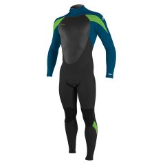 O'Neill Youth Epic 3/2 Back Zip Full Wetsuit Black/Ultrablue/Dayglo