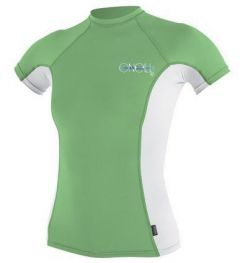 O'Neill Womens Skins S/S Rash Guard Mnt/Wht/Mnt