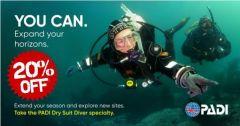 PADI Drysuit Diver Course Special