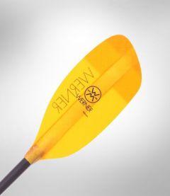 Werner Sherpa Straight Glass Kayak Paddle Amber Blade | Robin Hood Watersports