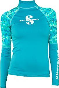scubapro rashguard upf 50 womens long sleeve Caribbean