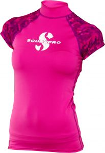 Scubapro Rashguard UPF50 Womens Short Sleeve Flamingo