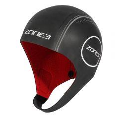 Zone3 Heat-Tech Neoprene Swim Cap Black/Red/Silver
