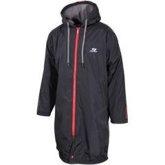Zone3 Polar Fleece Parka Robe Jacket Black/Red Front | Robin Hood Watersports