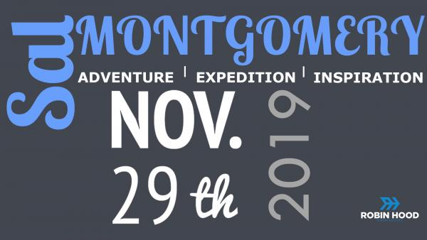 Sal Montgomery : an evening of travel and adventure - 29/11/19